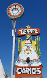 Tepee Curious Sign